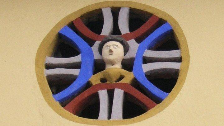 Fassadenornament in Einersdorf/Nonča vas