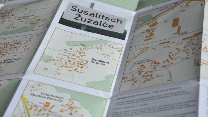 Landkarte für Finkenstein/Bekštanj, Foto: Vincenc Gotthardt