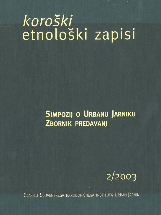 Cover: Koroški etnološki zapisi 2/2003}