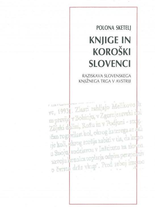 Cover: Knjige in koroški Slovenci}