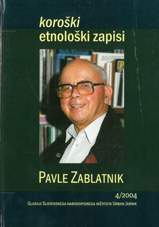 Cover: Koroški etnološki zapisi 4/2004