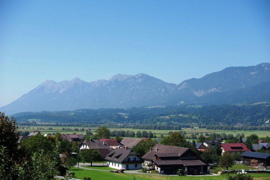 Image: Panagorje, pogled z Ziljske Bistrice
