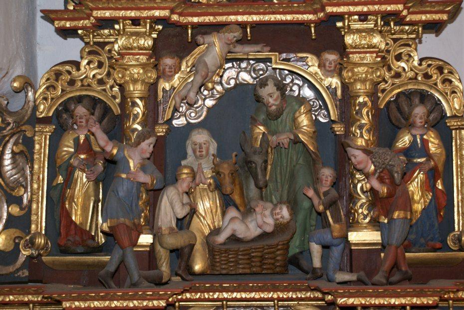 Image: Detail des Hauptaltars der Kirche in St. Georgen/Šentjur, Foto: Milan Piko