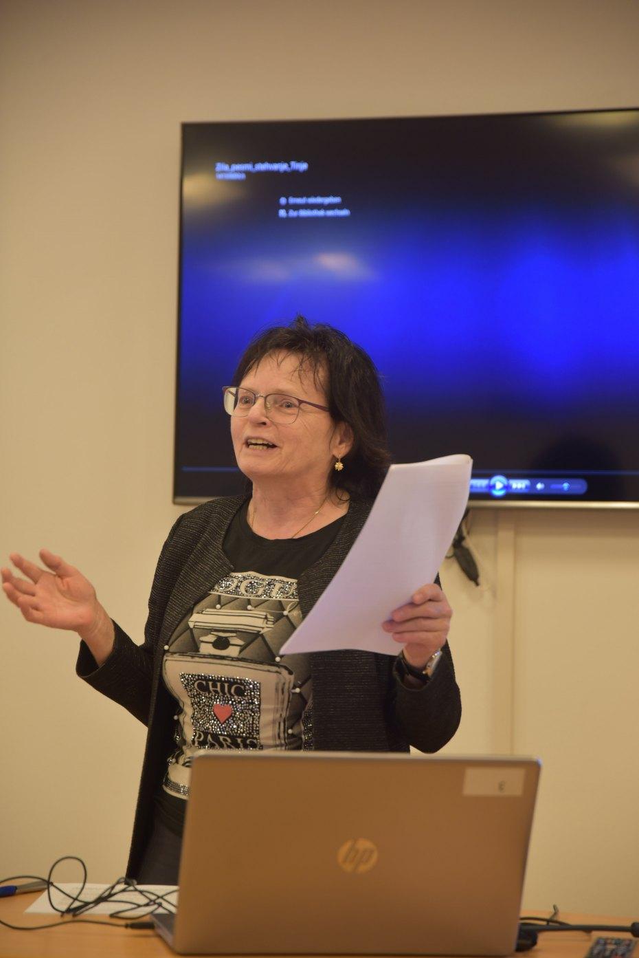 Image: Referentka Herta Maurer-Lauseggger