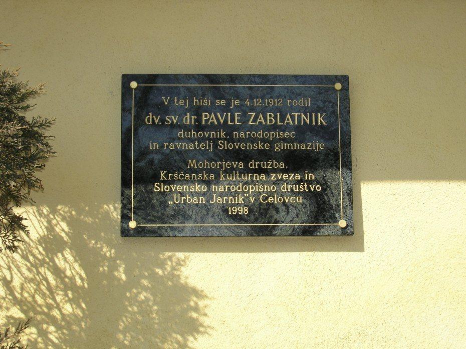 Image: Zablatnikova spominska plošča v Bilnjovsu