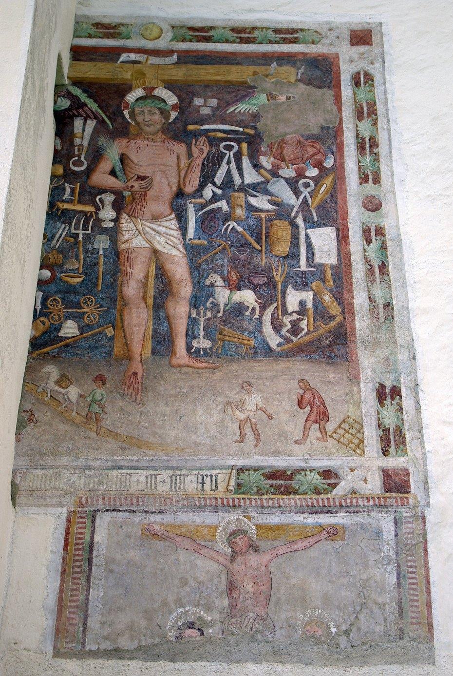 Image: Praznični Kristus na cerkvi v Čačah, foto: Stephan Neuhäuser